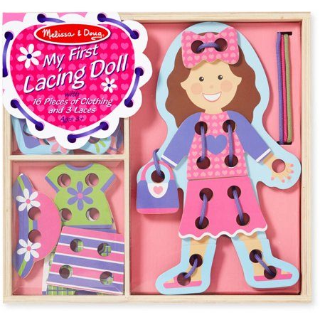 Melissa & Doug My First Lacing Doll With 16 Pieces of Clothing and 3 Laces Doll Craft Supplies