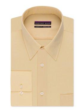 Geoffrey Beene Men's Big & Tall Classic-Fit Bedford Cord Dress Shirt (22 35-36, Eggnog)