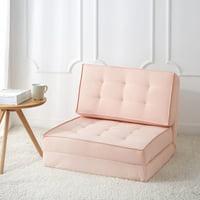 Your Zone Canvas Flip Chair, Blush