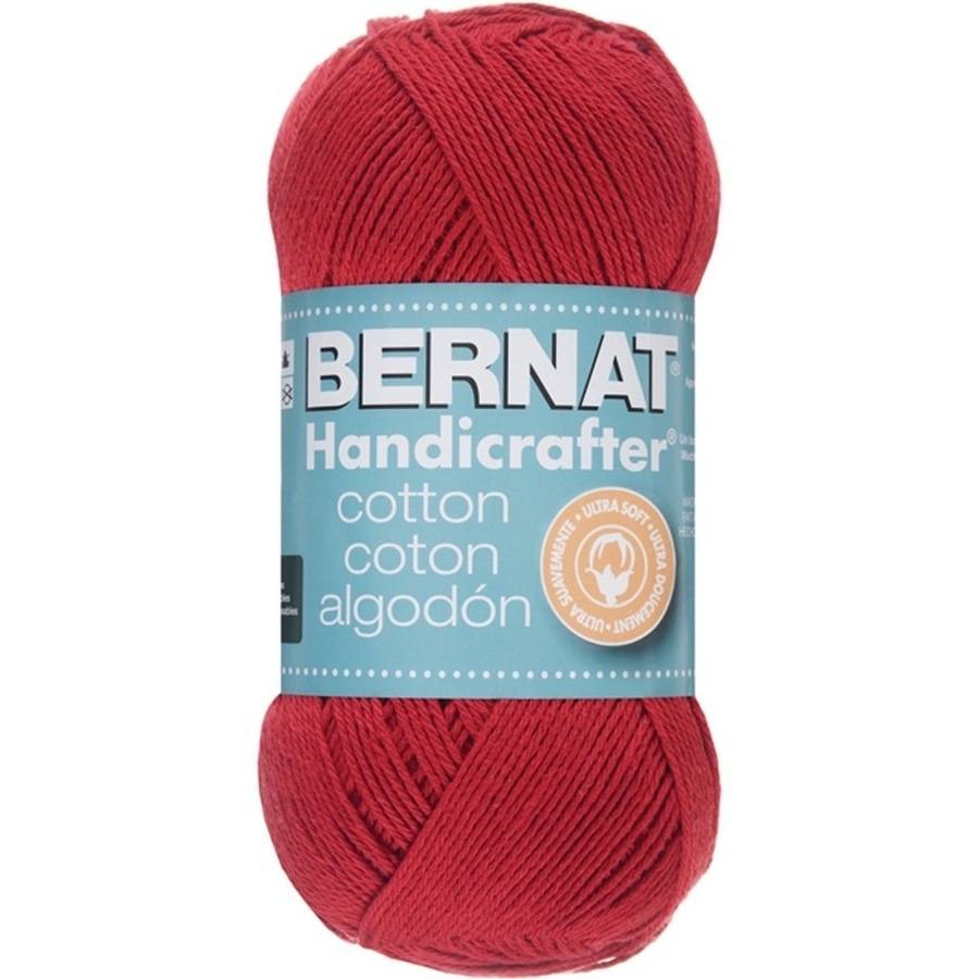 Bernat Handicrafter Cotton Yarn, 1.75 Oz, Country Red