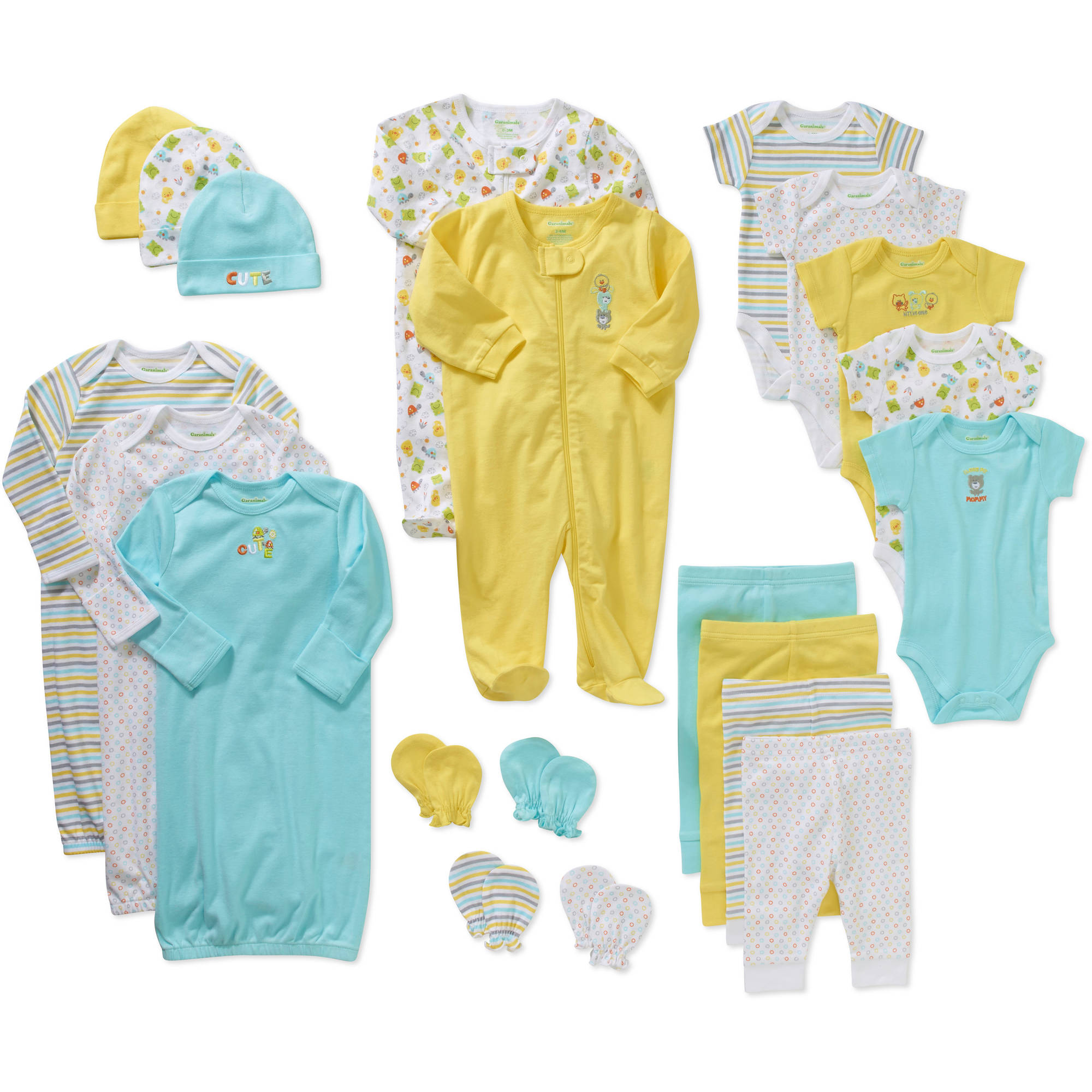 Garanimals Newborn Unisex 21 Pc Layette Baby Shower Gift Set