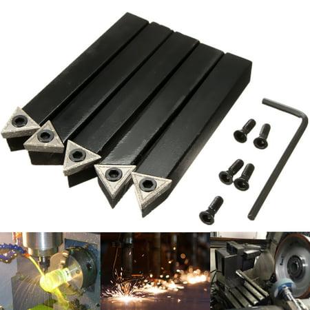 1/2'' Shank 10mm Lathe Indexable Carbide Insert Turning Tool Bit Set 5Pcs/box - image 7 of 11
