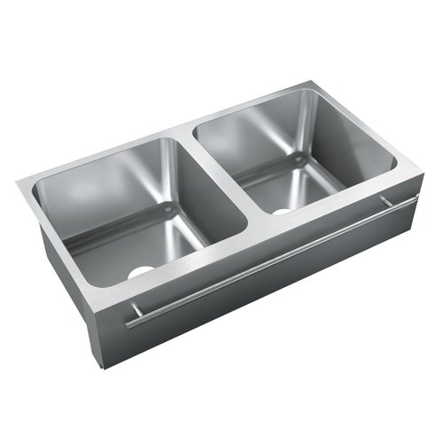 Just Manufacturing 36'' L x 20'' W Double Bowl Undermount Kitchen Sink