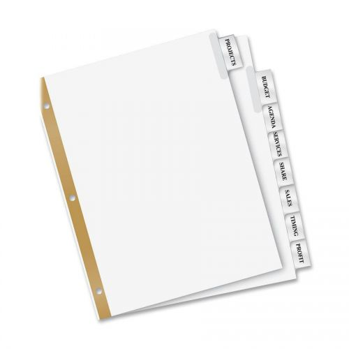 Clear Tab Avery 16241 Self-Adhesive Tabs with White Printable Inserts Two Inch