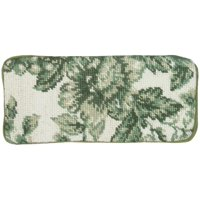 Eyeglass Case 3.5x7 Toile Green Wool Yarns New Hand-Embroidered Needlepoi JK-518