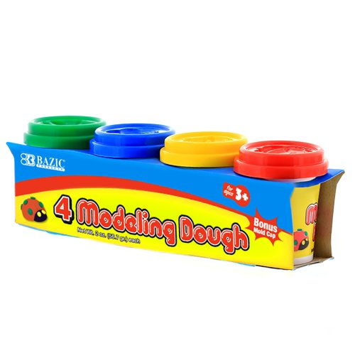 BAZIC 2 Oz. Multi Color Modeling Dough (4/Pack) (CASE of 36)