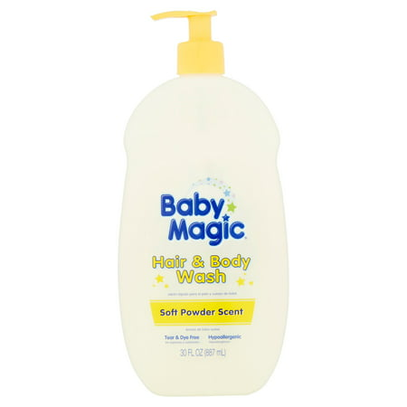 Baby Magic Hair and Body Wash, Soft Powder Scent, 30 Ounces