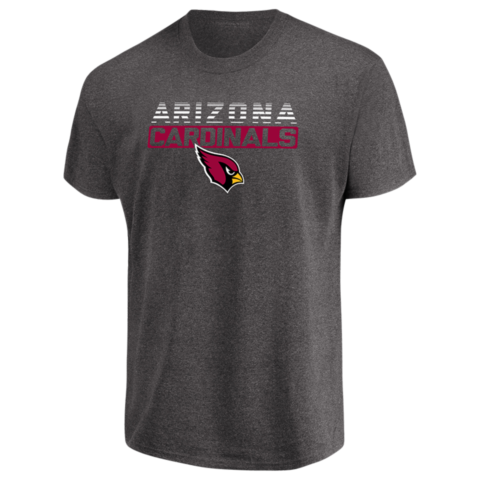 Men's Majestic Heathered Charcoal Arizona Cardinals Come Into Play T-Shirt