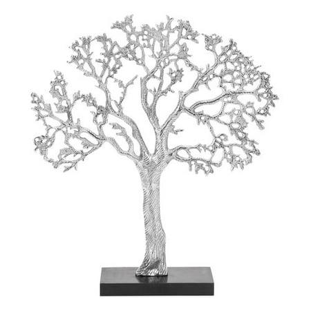 Decmode aluminum tree decor silver for Al ahram aluminium decoration