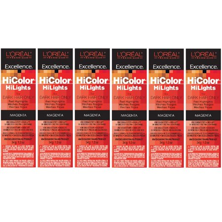L'Oreal Excellence HiColor HiLights MAGENTA Permanent Tint HC-05101 (6 - Magenta Tint
