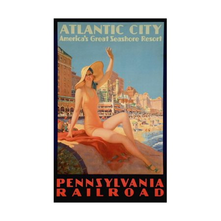 Atlantic City Bathing Pa Line Print Wall Art By Vintage Apple Collection](Party City Dickson City Pa)