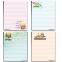 Cute Notepads - 4 Assorted Pads - Sweet, Feel Good Notepads - Great Gift Idea, 50 Sheets Each