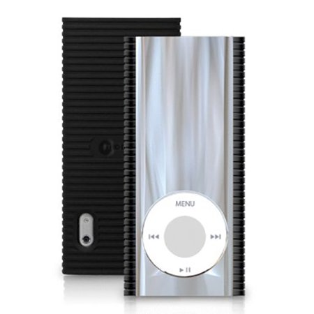 MACALLY MIRAGE REFLECTIVE BLACK CLEAR CASE HARD COVER FOR iPOD NANO 5th GEN 5G