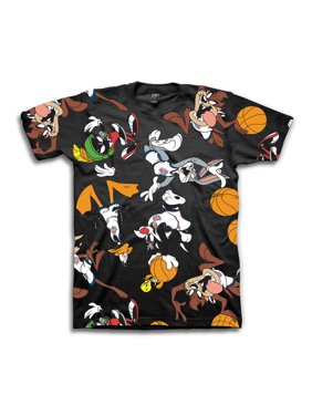 Space Jam Boys Squad All Over Print T-Shirt Sizes 8-20