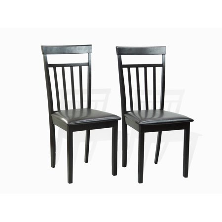 SK New Interiors Set of 2 Side Dining Kitchen Warm Chair Solid Wood w/Padded Seat, Espresso (Kitchen Chairs Wood)