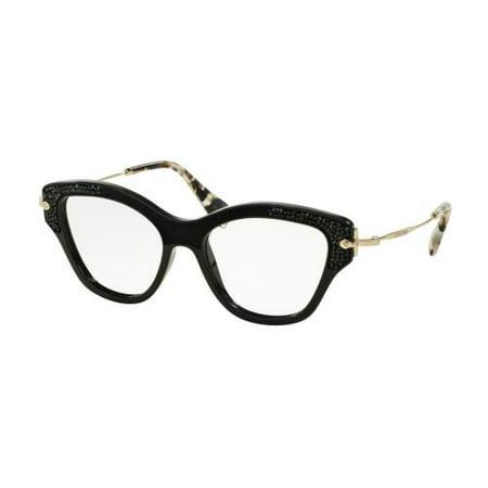 MIU MIU Eyeglasses MU 07OV 1AB1O1 Black (Miu Miu Eyeglass)
