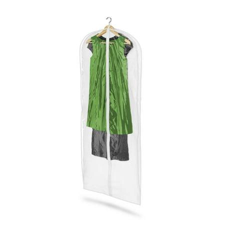 Honey Can Do PEVA Dress Bag, White/Clear (Pack of 2)
