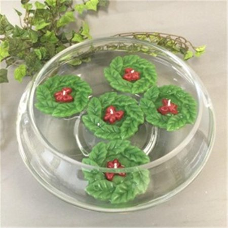 Biedermann & Sons C8001 Holly Wreath Floating Candle - Pack of 2 - image 1 of 1