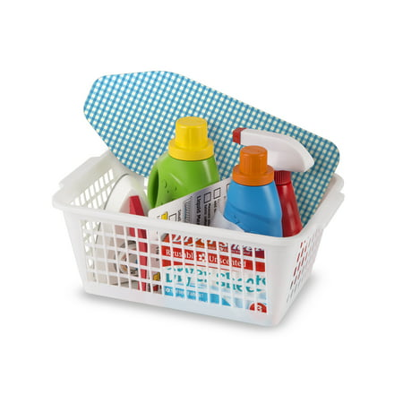 - Melissa & Doug Laundry Basket Play Set With Wooden Iron, Ironing Board, and Accessories (14 Pcs)