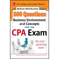McGraw-Hill's 500 Questions: McGraw-Hill Education 500 Business Environment and Concepts Questions for the CPA Exam (Paperback)