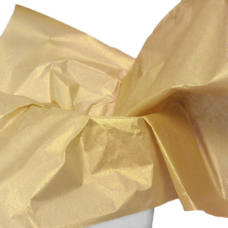 """Pearl Sun Gold Tissue Paper 20"""" X 30"""" 