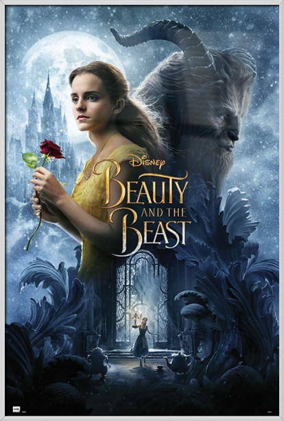 "Beauty And The Beast Movie Poster   Print (Regular Style 2 Belle & The Beast) (Size: 24"" x 36"") by"