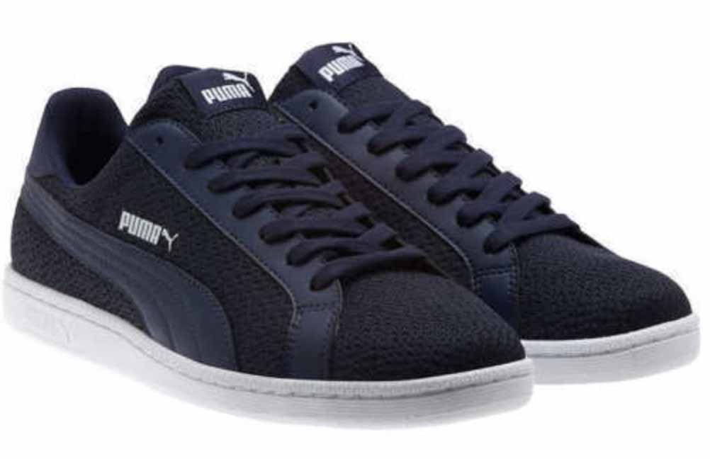 Puma Mens Smash Knit Fashion Sneakers (Navy, 9.5) by