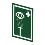 HUGHES SAFETY SHOWERS ES Eye Wash Sign,Symbol,No Text,12inHx10inW
