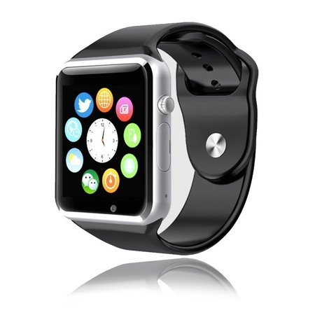 c9c789f43625f2 A1 Smart Watch Bluetooth Waterproof GSM SIM Cam For Android iOS Phone -  Walmart.com