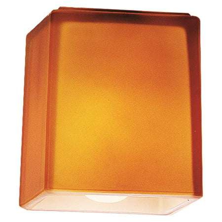 Square Amber Glass Shade
