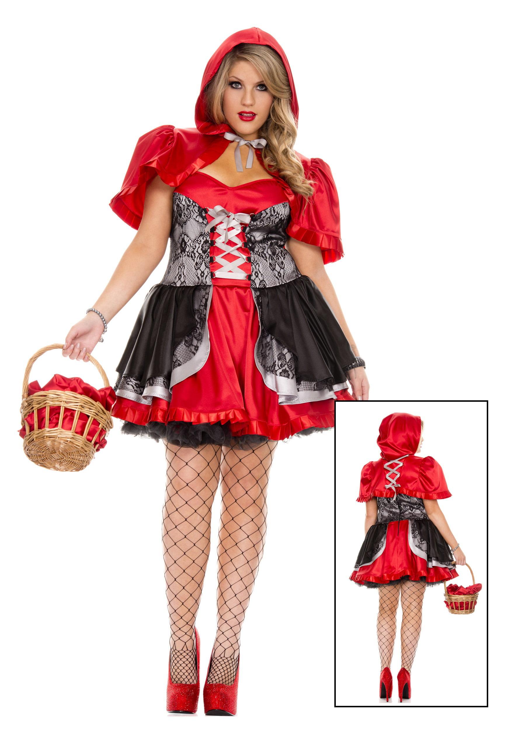 plus size women's fiery lil' red costume - walmart