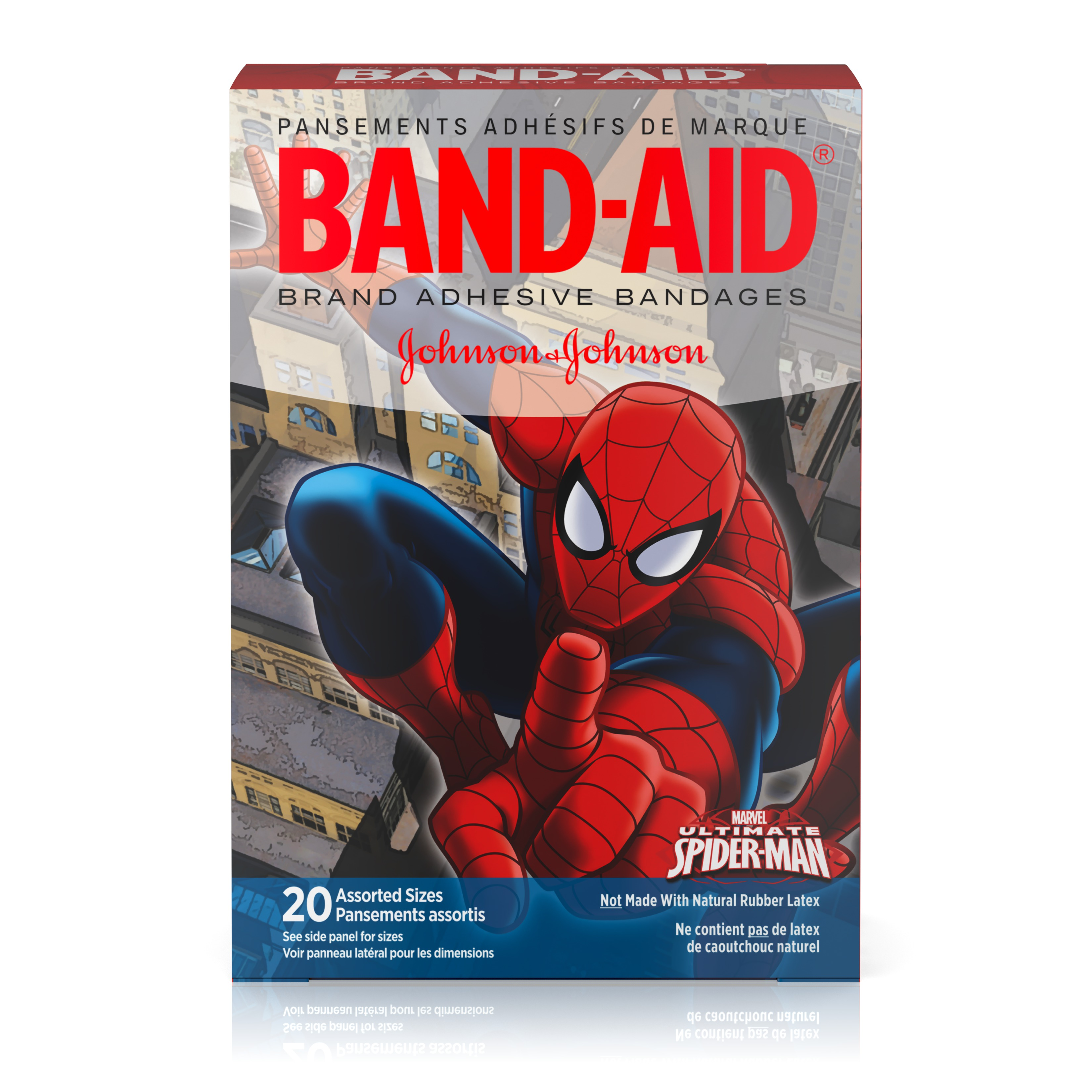 Band-Aid Adhesive Bandages, Marvel Spiderman, Assorted Sizes 20 ct