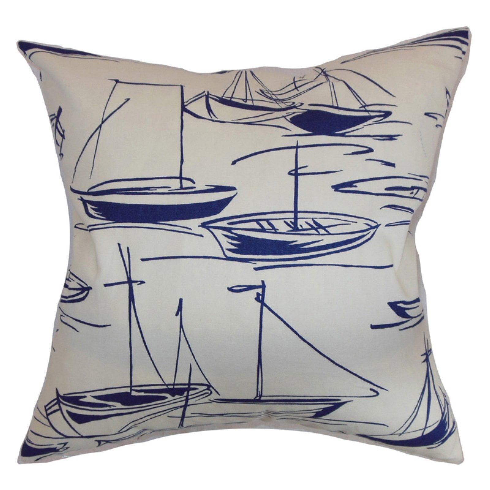 The Pillow Collection Gamboola Nautical Pillow - Navy