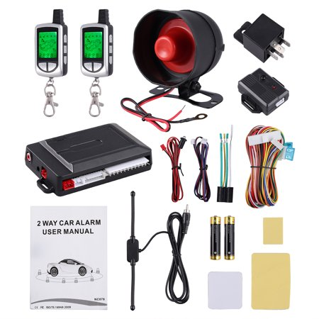 Telephone Entry System Lcd - ESYNIC 2 Way Car Alarm Security System Pager LCD Remote Control Keyless Entry 12V