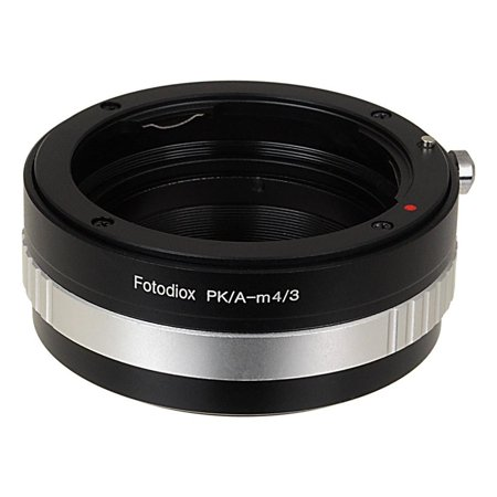 Fotodiox Lens Mount Adapter - Pentax K Mount (PK) SLR Lens to Micro Four Thirds (MFT, M4/3) Mount Mirrorless Camera Body, with Built-In Aperture Control Dial (Micro 4 3 Toy Lens)