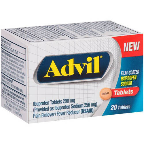 Image of Advil 200 MG Ibuprofen, 20 CT (Pack of 6)