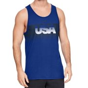 Mens Shirt Royal Large USA Print Loose Fit Tank L