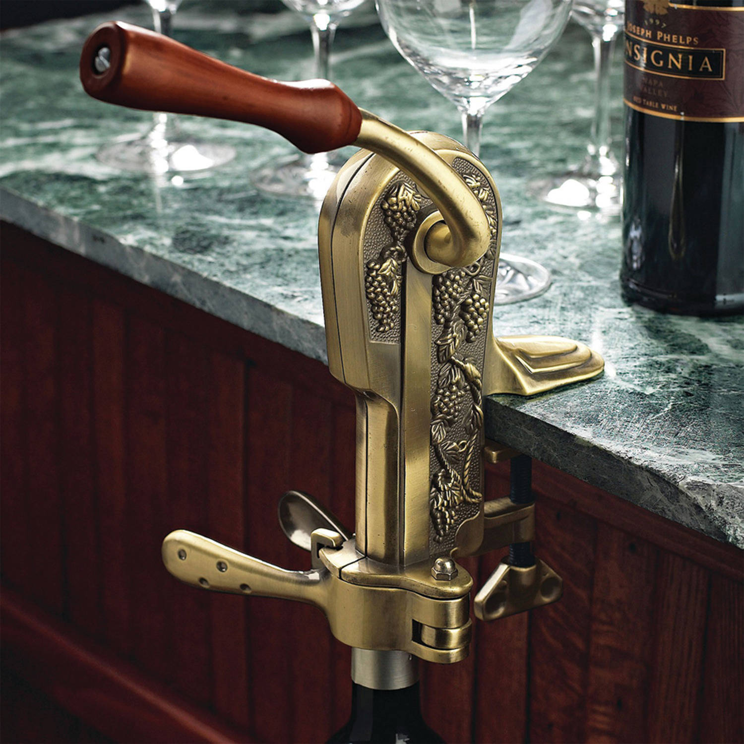Wine Enthusiast 4331202 Legacy Corkscrew, Antique Pewter