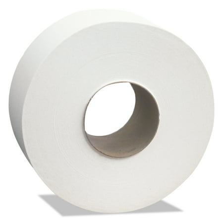 Cascades North River Jumbo Roll Tissue, 2-Ply, White, 3 1/2