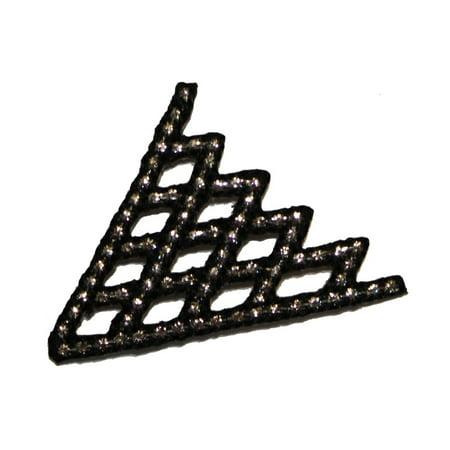 ID 2341 Lattice Craft Patch Design Emblem Roofing Embroidered Iron On - Iron Lattice