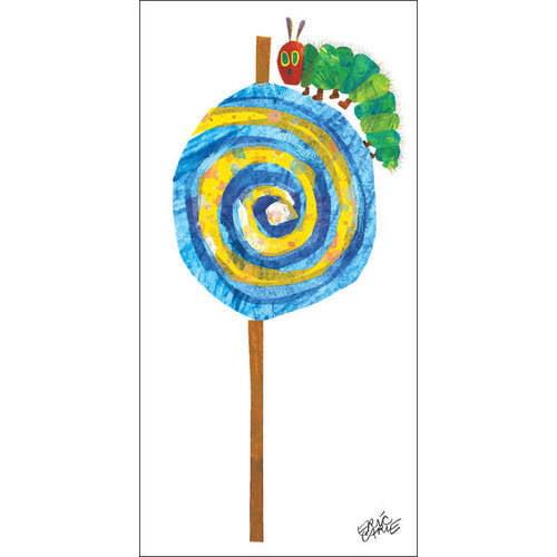 Oopsy Daisy - Eric Carle's Caterpillar Lollipop Canvas Wall Art 12x24, Eric Carle