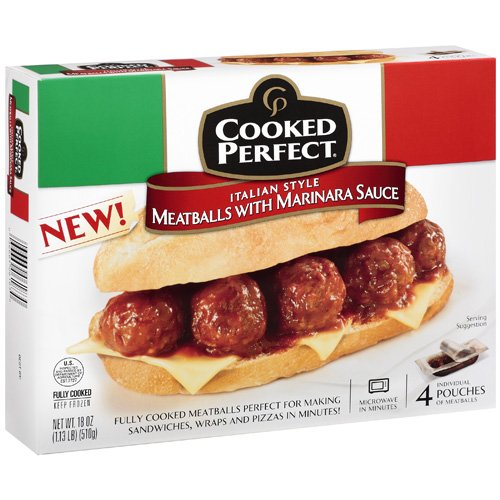 Cooked Perfect Italian Style Meatballs With Meatballs, 18 oz