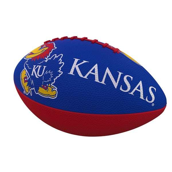 Kansas Combo Logo Junior-Size Rubber Football