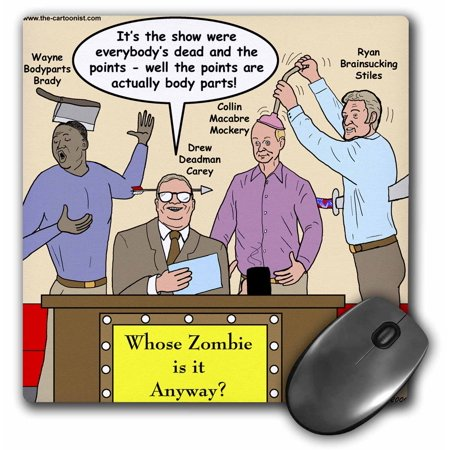 Whose Line Halloween (3dRose Halloween - Zombie Whose Line is it Anyway, Mouse Pad, 8 by 8)