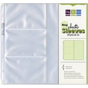 """We R Memory Keepers Archival Ring Photo Sleeves, 12"""" x 12"""", 3 (4x6""""), 1 (12x6"""") Pockets, 10/pkg"""