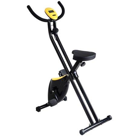 Foldable Exercise Bike Compact Indoor Cycling Home Workout (Best Compact Cardio Equipment)