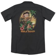 Betty Boop Hula Betty Boop II (Back Print) Mens Work Shirt