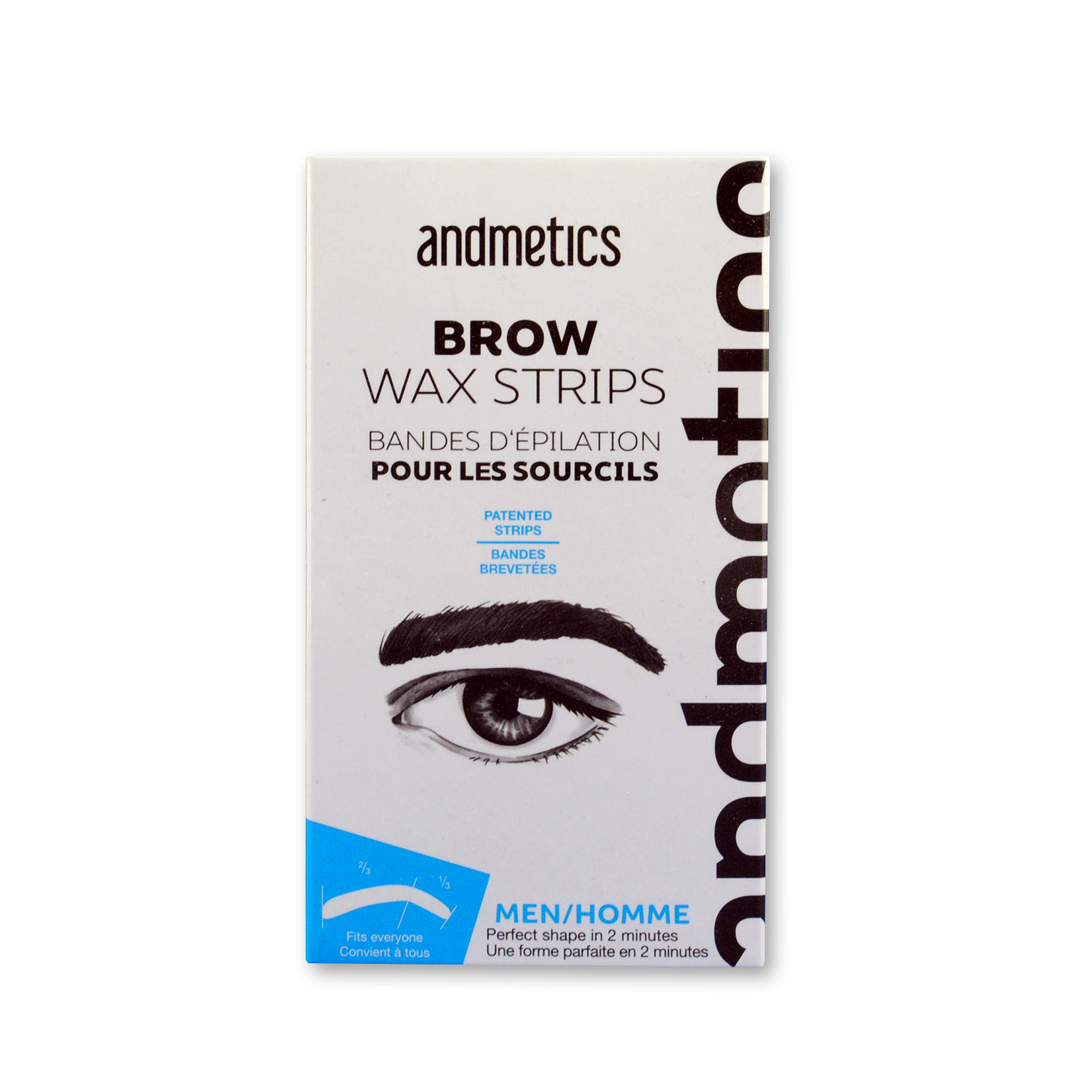 Andmetics Eyebrow Wax Depilation Strips Depilatory Strips For Men