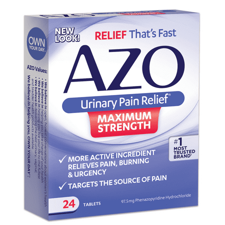 Azo Max Urinary Pain Relief Tablets, 24ct (Best Pain Pills For Lower Back Pain)