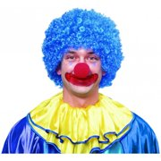 Afro Clown Blue Wig